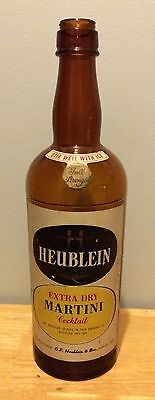 "19"" Rare HEUBLEIN Extra Dry Martini Cocktail Advertising Store Bottle Display"