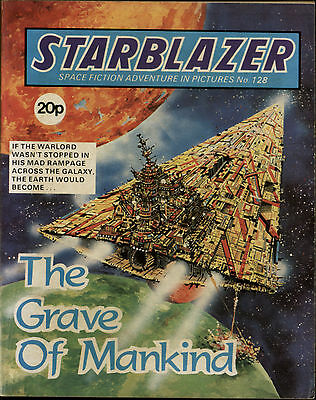 The Grave Of Mankind,starblazer Space Fiction Adventure In Pictures,no.128,1984