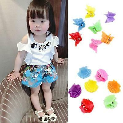 30Pcs New Fashion Mixed colors Plastic Hair Clip Baby Women Clamp 9 Style BUAU