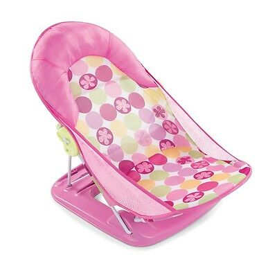 Summer Infant Deluxe Baby Bather Circle Daisy Pink Fast Delivery High Quality