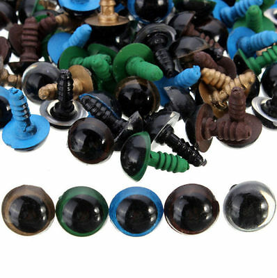 100pcs Eyes Puppet Animal Craft Doll 12mm NEW For Teddy Bear Plastic Safety