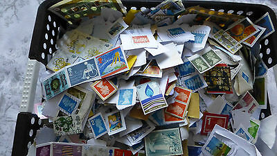 Kiloware 500g Unsorted from charity stamps, used postage stamps mainly on paper