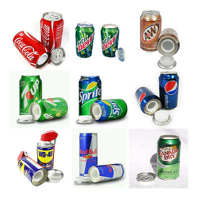 Variety Of Soda Or Beer Cans Safe Hidden Storage Diversion Secret Stash B-1251C