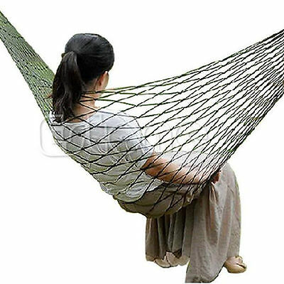 Portable Travel Camping Outdoor Mesh Swing Sleeping Bed Nylon Hammock Hanging