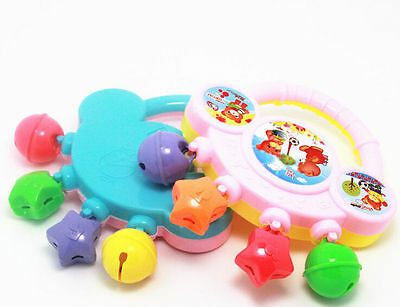Baby Plastic Rattle Toy Handbell Musical Education Percussion Instrument GRAU