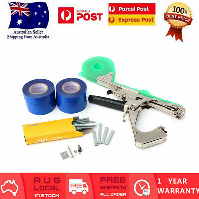 NURSERY PLANT TYING TAPETOOL TAPENER MACHINE +10 rolls tape+staples+Extra Blade