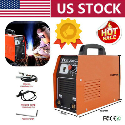 ZX7-200 IGBT DC Inverter Welding Portable MMA ARC Welder Soldering Machine USA
