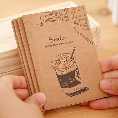 2Pcs Diary Copybook Blank Pages Memo Paper Vintage Journal Notepad Cute Notebook