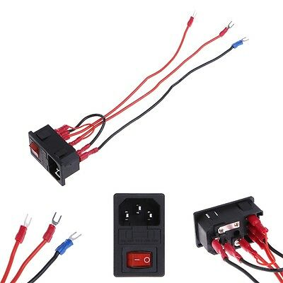 15A 220V/110V Inlet Male Plug Power Socket With Fuse Switch 3D Printer Parts