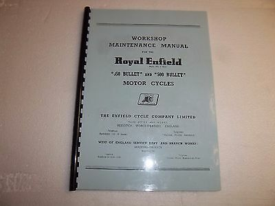 Royal Enfield Bullet 350 & 500 Workshop Manual 1950-56 - REW06