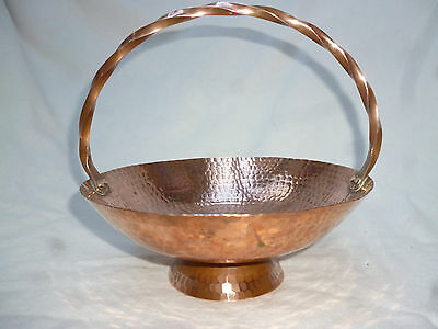 VINTAGE RETRO LARGE COPPER BOWL for FRUIT NUTS etc  hand made by WEEDA Tasmania