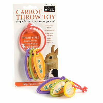 Carrot Throw Chase Toy for Rabbits, Guinea Pigs, Rats, Ferrets, Small Animals