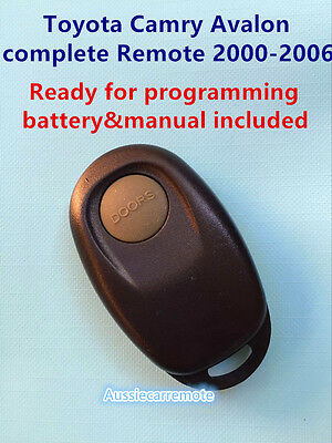 Toyota Camry Avalon complete Remote 2000-2006 1 button ready for programming