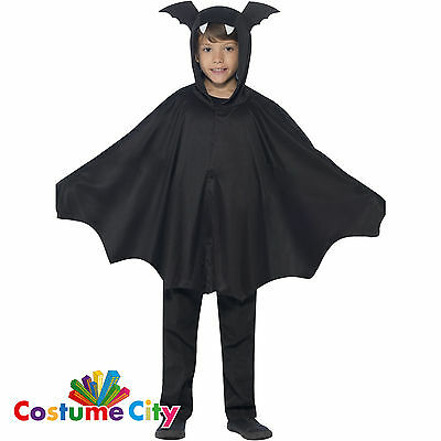 Childs Boys Girls Vampire Bat Cape Halloween Fancy Dress Costume Accessory