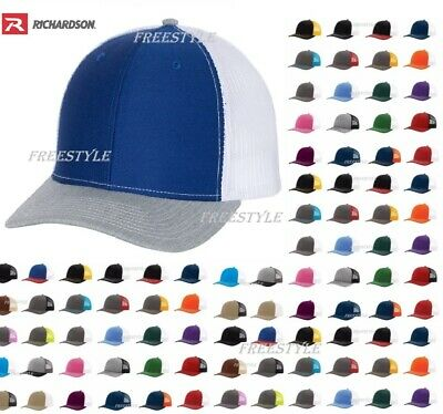 New! Richardson 112 Trucker Hat Mesh back Snapback Ball Cap SALE 50+ Colors hats