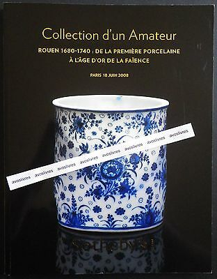 RARE COLLECTION de CERAMIQUES DE ROUEN 1680-1740 FAIENCES Porcelaine RESULTATS
