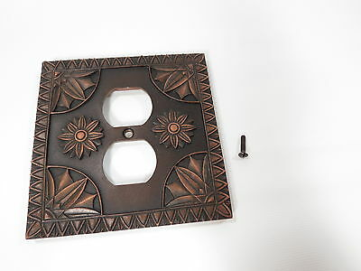 Vintage Rustic Plastic Brushed Bronze Wall Single Switch Outlet Plate Cover