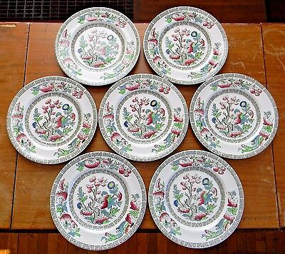 "Lot 7 Vintage Johnson Brothers INDIAN TREE 6-3/8"" BREAD PLATES England Very Good"