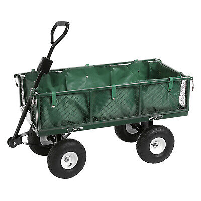 Heavy Duty Garden Trolley Cart Wheelbarrow Trailer Festival Truck Large 350kg