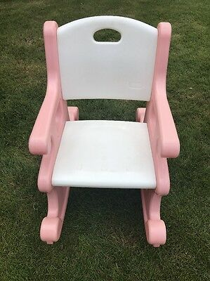Fabulous Vintage Little Tikes Pink White Victorian Rocking Chair Rocker  Child Size With Child Size Rocking Chair