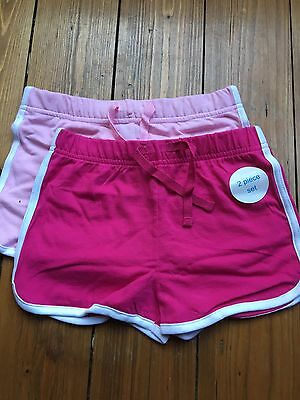 Girls Pink Cotton Shorts New 2 Pack
