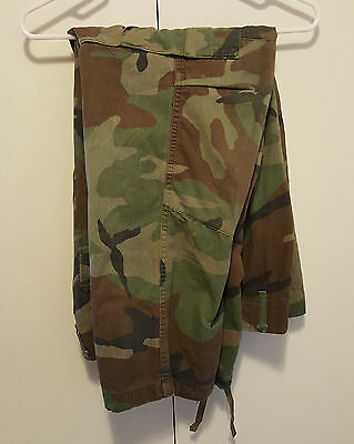 Genuine US Army Woodland Camo BDU Combat Pants Small Short