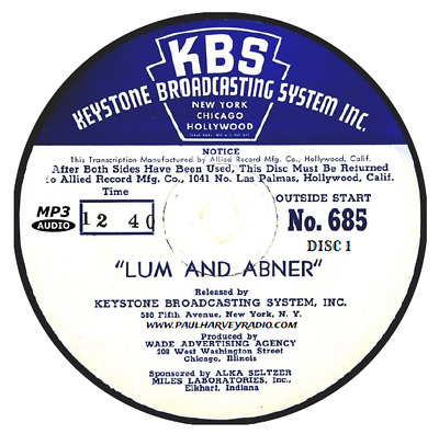 Lum And Abner (1,652 Shows) Otr Mp3 9 Cd's