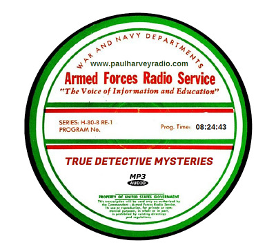 True Detective Mysteries (19 Shows) Old Time Radio Mp3 Cd