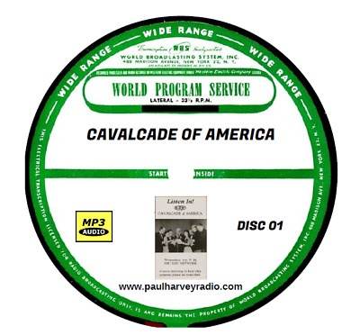 Cavalcade Of America (747 Shows) Otr Mp3 11 Cd's