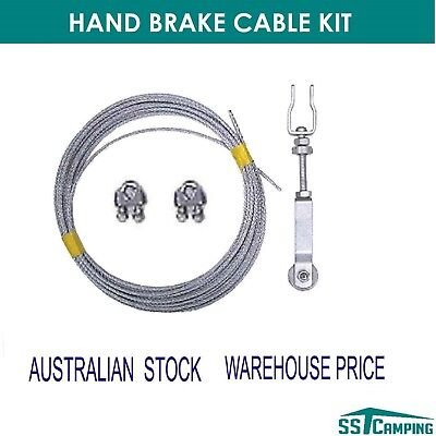 Hand Brake Cable Kit - Adjuster Clamps Cable Camper Trailer Caravan  Aus Stock !