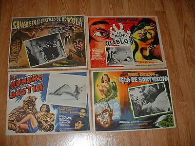 Mexican Lobby Cards-Horror/sci-Fi   Lot Of 12 Cards