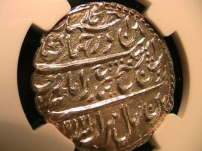 1217/7 INDIA MYSORE Independent Kingdoms Tipu Sultan NGC MS-64 One Rupee KM-126