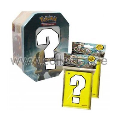 1 LEERE Pokemon Tin-Box + 100 Ultra Pro Sleeves