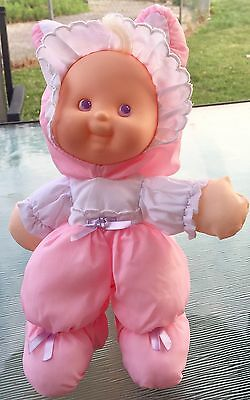 1991 Fisher Price Puffalump Kids Easter Bunny Doll Plush Rabbit Doll