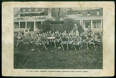 1925 Loysville,Perry Co.,PA - Tressler Orphan's Home Boy's Band Photo Card