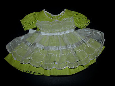 RARE 1950s Ideal P90 TONI TAGGED Chartreuse Pique DRESS!