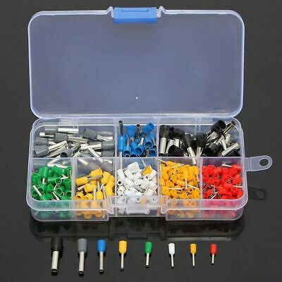 400PCS AWG 22 to 10Wire Copper Crimp Connector Insulated Cord Pin End Kit
