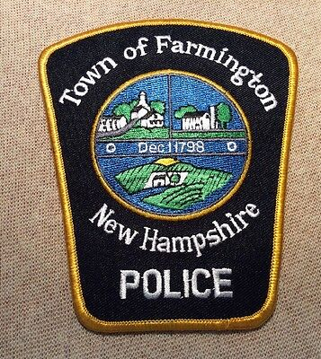 MI Town of Farmington New Hampshire Police Patch
