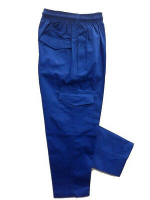 3 Pairs of Boys Cargo Pants Royal Blue Size 6 Youth School Wear
