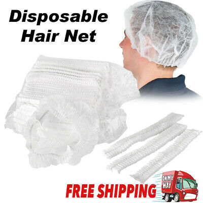 Hair Net Cap Disposable Non Woven Hairnet Dust Head Cover Stretch Hat