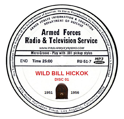 Wild Bill Hickok (263 Shows) Old Time Radio Mp3 3-Cd's