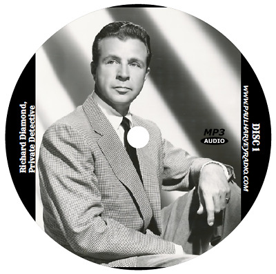 Richard Diamond, Private Detective (114 Shows) Old Time Radio Mp3 4 Cd's