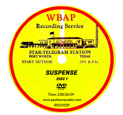 Suspense (915 Shows) Otr Mp3 2 Dvd's