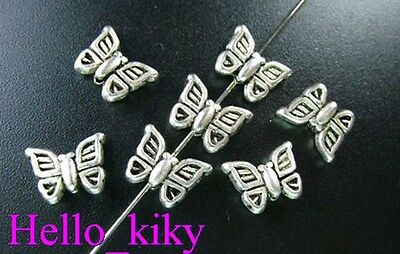 80 pcs Tibetan silver crafted butterfly spacers A183