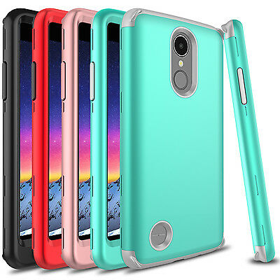 For LG Aristo/K8 2017/M210 Case Shockproof Armor Hybrid PC+TPU Hard Phone Cover