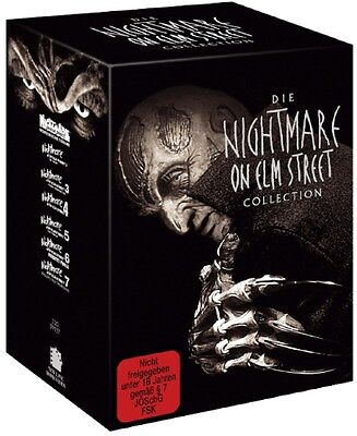 Nightmare on Elm Street 1-7 Limited Uncut Box Collection Edition 7 DVDs NEU OVP