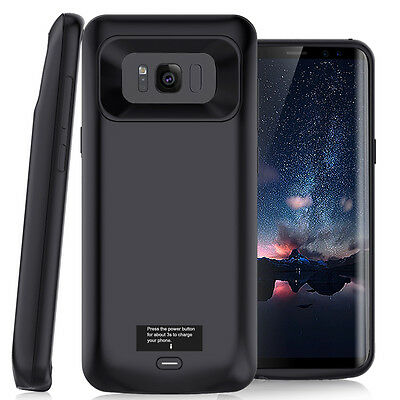 5500mAh Samsung Galaxy S8 / Plus External Battery Backup Case Charger Power Bank