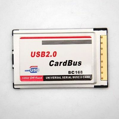 New Laptop 9741 2017 PCMCIA to USB 2.0 CardBus Dual 2 Port 480M Card Adapter