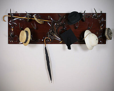 Antique Art Nouveau Animal Horn Hat Rack c.1905.