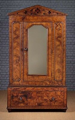 Antique 19th.c. Welsh Painted Pine Wardrobe c.1860.